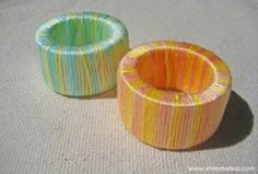 Ombre Napkin Rings · Home and Garden | CraftGossip.com