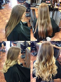 Before and after transformations created at Salon Rootz.
