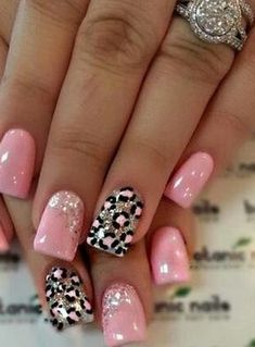 Cute Valentine Nail Art Designs for 2020 - Leopard Print Ideas : Easy Leopard Print Nail Art Pink Leopard Nails, Pink Nails, Toe Nails, Nail Art Designs, Leopard Nail Designs, Fancy Nails, Pretty Nails, Gel Nagel Design, Dipped Nails