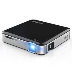 Mini Vídeo Projetor Super portátil LED até 25000 horas Suporte de bateria embutido 1080P entrada HDMI / MHL Saída de áudio Dual Built-in Stereo APEMAN