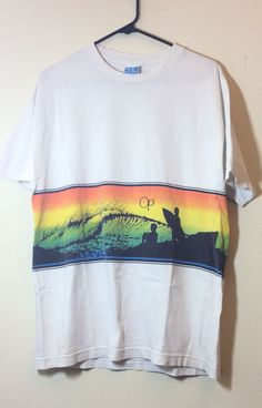 SALE! Authentic Vintage 1980s OP Surfing T shirt Ocean Pacific Like Poly Tees #OP #GraphicTee