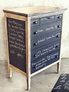 Chalk+Painted+Furniture+Ideas | SKETCHUP TEXTURE TRENDS: TRENDS: CHALKBOARD PAINT IDEAS