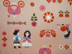 Cinderella Japanese fairy tale fabric kawaii pink