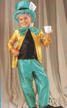 This Mad Hatter Boy Costume is perfect for trick or treating for Halloween. The Mad Hatter Boy Costume includes matching hat, pants and jacket with large bow. This Mad Hatter Boy Costume comes in various child sizes.