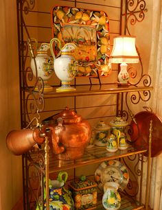 Search 18 Curated Decorating Bakers Racks Ideas By Rickritchie on Furniture Best Collection Decorate Bakers Rack Bakers Rack Decorating, Tuscan Decorating, French Country Decorating, Sunroom Decorating, French Decor, Decorating Ideas, French Country Farmhouse, French Country Style, Farmhouse Decor