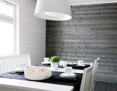 Like the grey paneling. Interior Walls, Interior And Exterior, Compact Living, Bohemian Interior, White Paneling, Living Room Inspiration, Wall Wallpaper, Decor Interior Design, Interior Architecture