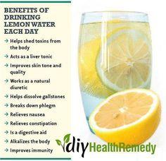 Amazing Benefits of Drinking Lemon Water