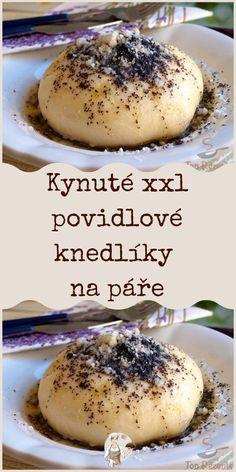 Kynuté xxl povidlové knedlíky na páře