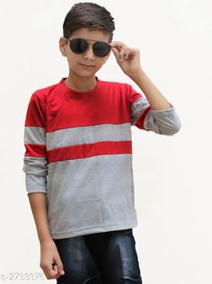 Checkout this latest Tshirts & Polos Product Name: *Classy Kid's Boy's Cotton Blend T-Shirt* Fabric: Cotton Blend Sleeve Length: Long Sleeves Pattern: Colorblocked Multipack: Single Sizes:  8-9 Years Easy Returns Available In Case Of Any Issue   Catalog Rating: ★4 (3153)  Catalog Name: Classy Kid's Boy's Cotton Blend T-Shirt's Vol 4 CatalogID_370464 C59-SC1173 Code: 282-2733376-456
