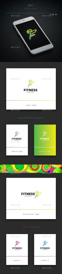Fitness — Vector EPS #purple #create • Available here → https://graphicriver.net/item/fitness/15799532?ref=pxcr