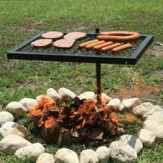 Make one for cheaper, good for camping to places without grates. This Texsport Heavy-duty Swivel Grill is welded of high quality steel to go over any campfire. What a great compact grill for summer! Perfect for camping and the beach! Bbq Grill, Campfire Grill, Grilling, Pit Bbq, Camping Hacks, Camping Stuff, Backpack Camping, Camping Items, Gardens