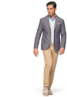 Jacket Grey Herringbone Paris C497 | Suitsupply Online Store