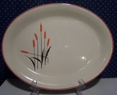 """(Sears-Roebuck and Co) """"CATTAIL"""" Coupe oval bowl."""