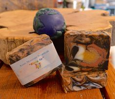 Azure Mountain ~ All Natural Handcrafted Soaps! Rose Clay, Sunflower Oil, Rich Colors, Spirulina, Hemp Seeds, Earthy, Palm, Vanilla, Artisan