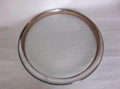 """Annieglass Roman Antique Platinum 12"""" Buffet Plate, signed, 1999, VGUC, #5 #Modern"""