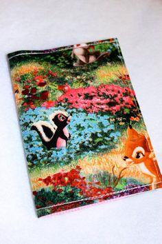 Passport Holder  Bambi with pink polka dot lining by LukaMish, $10.00