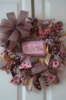 design {etc}: ribbon wreath for baby olivia...