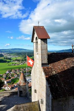 Switzerland Travel Inspiration - Gruyères is a medieval town in the canton of Fribourg in Switzerland. Lugano, Basel, Places To Travel, Places To See, Beaux Villages, Europe, Belle Villa, World View, Medieval Town