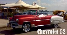Chevrolet 52 Convertible. Red & White color