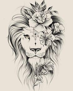 Leo Lion Tattoos, Lion Tattoo On Thigh, Lion Tattoo Sleeves, Dope Tattoos, Mini Tattoos, Animal Tattoos, Body Art Tattoos, Small Tattoos, Sleeve Tattoos