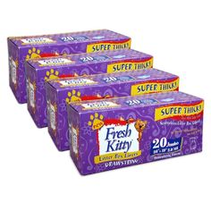 Fresh Kitty Litter Box Liners, 80 Count Super Thick w Drawstring Close ** More info could be found at the image url. (This is an affiliate link and I receive a commission for the sales)