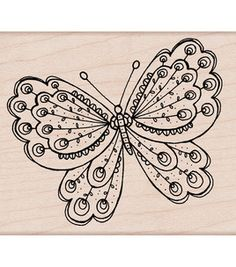 Hero Arts Mounted Stamp-Artists Butterfly: stamps: stamping: scrapbooking: Shop | Joann.com