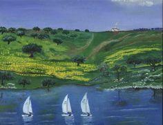 Painting of Alqueva Dam, Alentejo - Portugal
