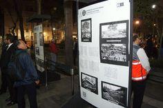 Se elaboró un periódico mural en donde se expusieron imágenes y crónicas de lo sucedido el día del terremoto