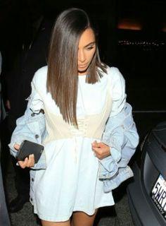 Kim k short hair