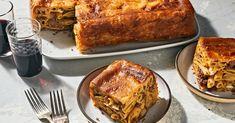 Baked Macaroni in Pastry (Timpana) Recipe | Saveur Pasta Pie, Pasta With Meat Sauce, Pasta Sauces, Pasta Dishes, Rice Dishes, Best Pasta Recipes, Beef Recipes, Cooking Recipes, Italian Recipes