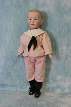 """Antique K*R 101 known as """"Peter"""" with molded hair, German Bisque Character Doll Original BJ Body RARE and seldom found. Old Dolls, Antique Dolls, Wow Wee, German Boys, Lord, Kewpie, Boy Doll, Toys For Girls, Vinyl Figures"""