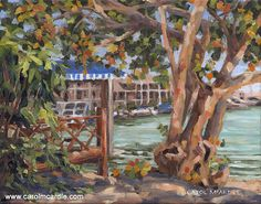Crayton Cove Corner, The Dock Grape Painting, Selling Paintings, American Art, Art Boards, Wall Art Decor, Landscape Paintings, Oil On Canvas, Original Paintings, Corner