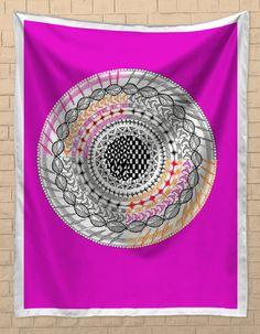 Colourful Geometric Mandala Tapestries | Artist : Amulya Jayapal | PosterGully