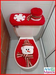 Cómo hacer Juegos de Baño para Navidad, Santa Claus y Muñeco de Nieve Wall Christmas Tree, Snowman Christmas Decorations, Christmas Table Centerpieces, Snowman Crafts, Blue Christmas, Christmas Snowman, Christmas Humor, Christmas Time, Christmas Applique