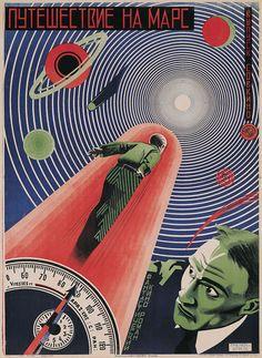 Nikolai Prusakov and Grigori Borisov, film poster for Puteshestvie na Mars (1926) (© TASCHEN, Susan Pack, California)