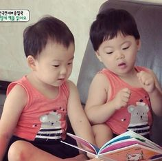 reading book with appa