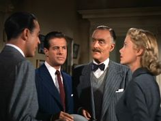 Ray Milland, Robert Cummings,  John Williams, Grace Kelly - Dial M for Murder (Alfred Hitchcock, 1954)