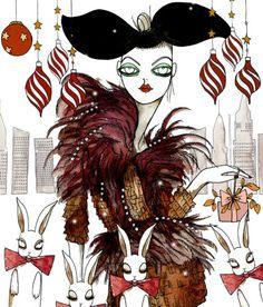 Vogue Russia- Cassandra Rhodin, fashion illustration