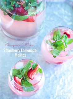 These delicious and refreshing sugar free strawberry lemonade mojitos have been…