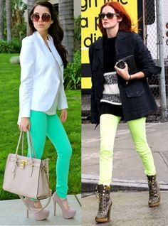 Coloured Jeans Trends for Summer