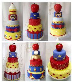 Fairy Birthday Cake, White Birthday Cakes, Snow White Birthday, Birthday Cake Girls, Baby Birthday, Snow White Fairytale, Snow White Disney, Snow White Invitations, Bolo Fack