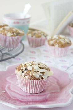 Cocina con Angi: Muffins de arándanos con streusel de almendra