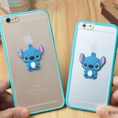 "3D Cute Stitch Soft TPU Frame Rubber Case Cover for Apple iPhone 6 Plus 4 7"" 5S | eBay"