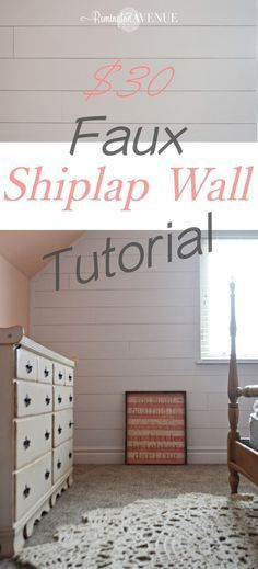 Southern Home Interior Faux shiplap wall tutorial.Southern Home Interior Faux shiplap wall tutorial Home Remodeling Diy, Home Renovation, Easy Home Decor, Cheap Home Decor, Cuadros Diy, Faux Shiplap, Shiplap Diy, Diy Casa, Up House