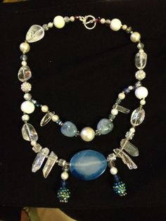 Crystals and agate neckart