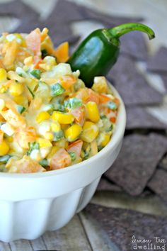 Creamy Jalapeno Corn Dip - a fresh and delicious party dip!