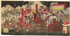 Saigo Takamori and Beppu Shinsuke in a battle during the Satsuma Rebellion