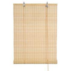 store enrouleur toba en bambou plat 60x180 cm naturel 25. Black Bedroom Furniture Sets. Home Design Ideas