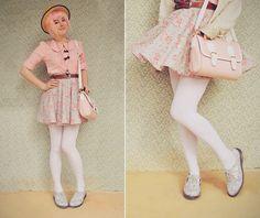 DIY Skirt & Pastelly Goodness (by Annika Victoria) http://lookbook.nu/look/3673611-DIY-Skirt-Pastelly-Goodness