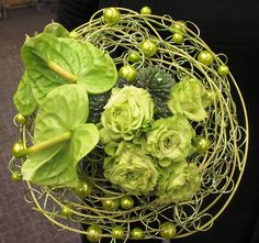 Gorgeous green wired # bouqet by Simply Perfect Flowers